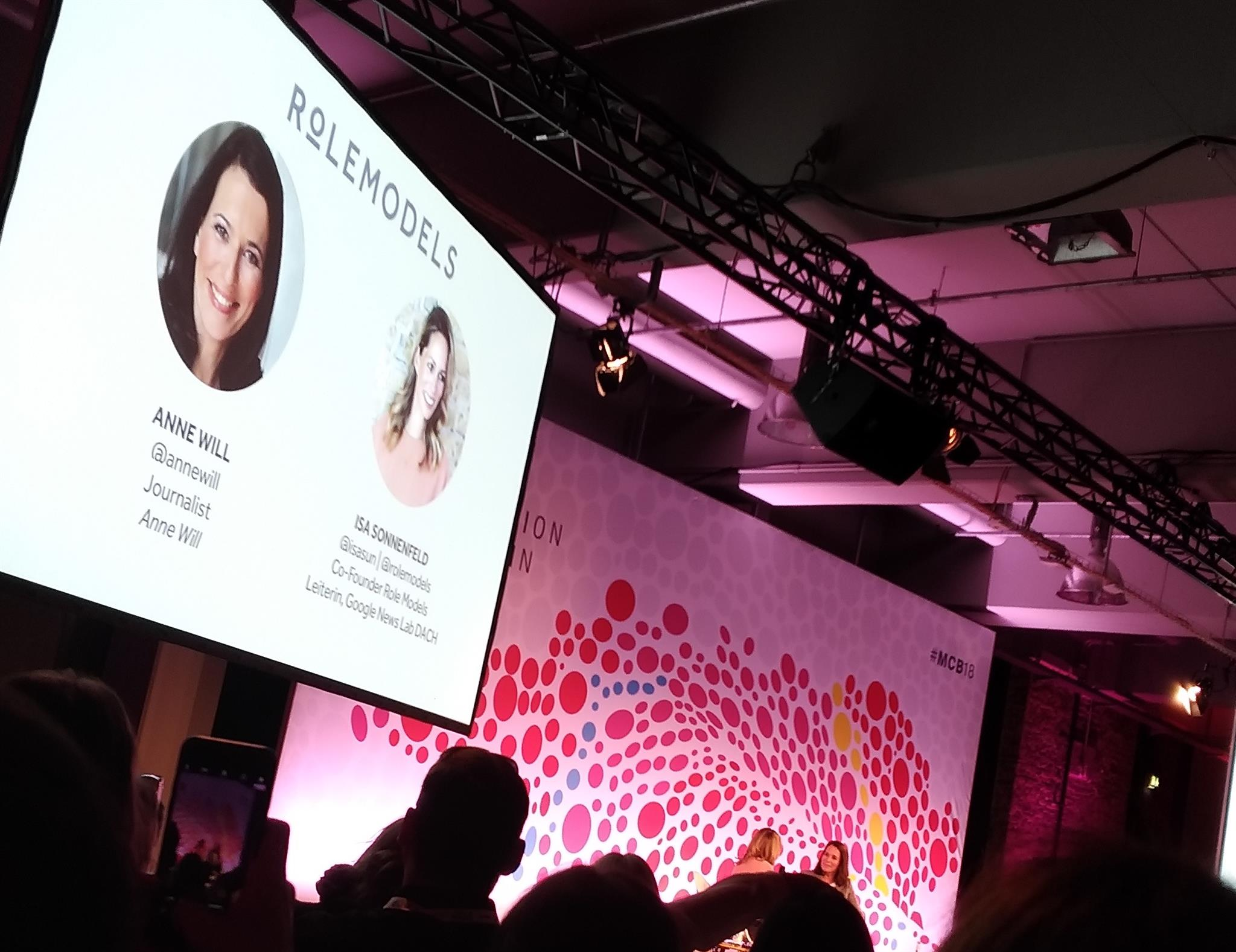 Re:publica: Anne Will im Talk mit Role Models - RCKT. BLG.